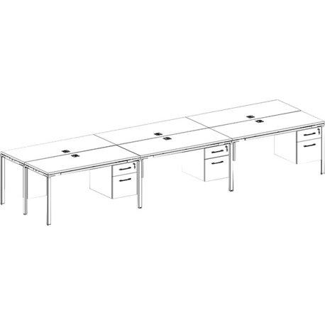 """Boss NTT2436 Training Table Top - Mahogany Rectangle Top - 36"""" Table Top Width x 24"""" Table Top Depth x 1"""" Table Top Thickness -"""